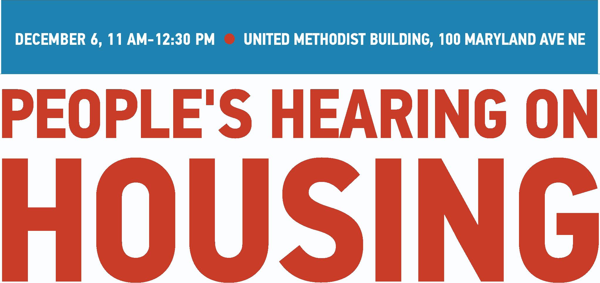 People's Hearing on Housing logo