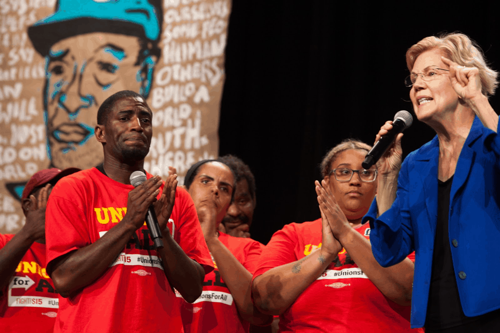 Elizabeth Warren at the People's Action Presidential Forum in Des Moines, Iowa on Sept. 21, 2019